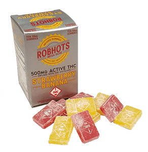 Robhots Megadose 500mg Infused with THC Distillate – Strawberry Bananna