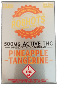 Robhots Megadose 500mg Infused with THC Distillate - Pineapple Tangerine