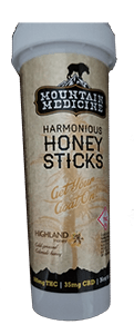 Mountain Medicine Harmonious Honey Sticks review - 500mg THC / 35mg CBD