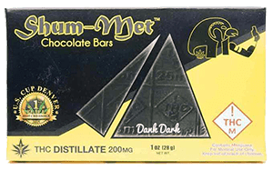 Shum-Met Chocholate Bar - 200mg - Dank Dark