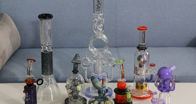 different glass bongs